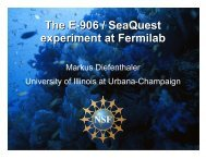 The E-906 / SeaQuest experiment at Fermilab - Projects Document ...