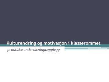 Praktiske undervisningsopplegg i norsk - Lesesenteret