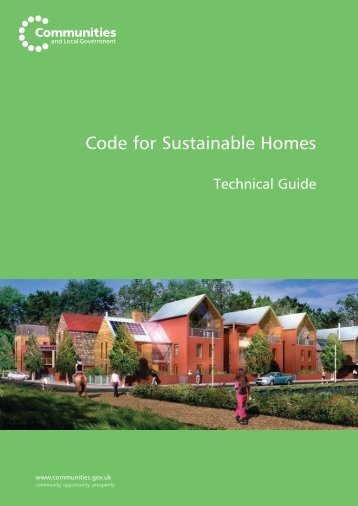 Code for sustainable homes briefing note | sustainability.