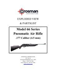 Pneumatic Air Rifle Model 66 Series - Crosman