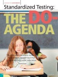 Standardized Testing: The Do-or-Die Agenda - National Association ...