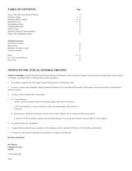 table of contents notice of the annual general meeting - eveready ea
