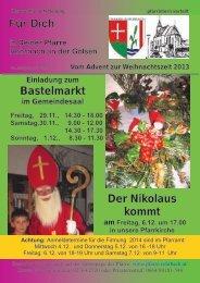 + Pfarrbrief vom Advent zur Weihnachtszeit 2013 - Pfarre Rohrbach