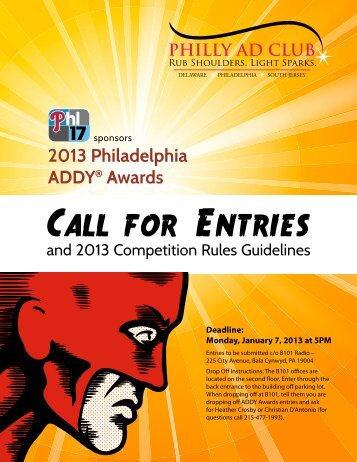 2013 Philadelphia ADDY® Awards - Philly Ad Club
