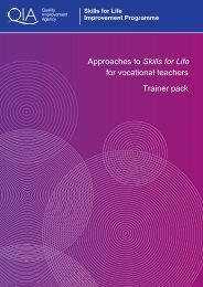 Approaches to Skills for Life for vocational teachers Trainer pack