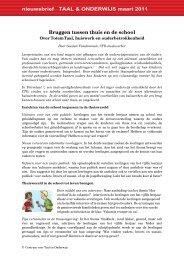 Bruggen tussen thuis en de school - Centrum voor Taal & Onderwijs