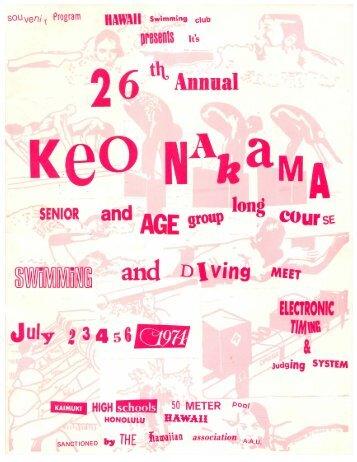 1974 Keo Nakama Invitational - Hawaii Swimming