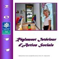 Règlement intérieur d'action sociale applicable à partir du ... - Caf.fr