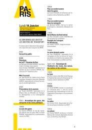 Programme allégé Paris - La Semaine du Son