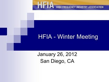 Introductions - HFIA
