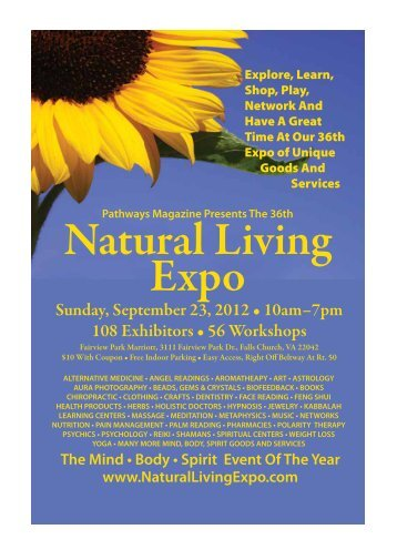 Sunday, September 23, 2012 • 10am–7pm 108 Exhibitors • 56 ...