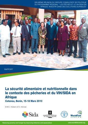 La sécurité alimentaire et nutritionnelle dans le contexte ... - WorldFish