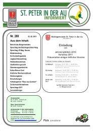 Infoblatt Nr. 280 vom 1.2.2011 - in St. Peter in der Au