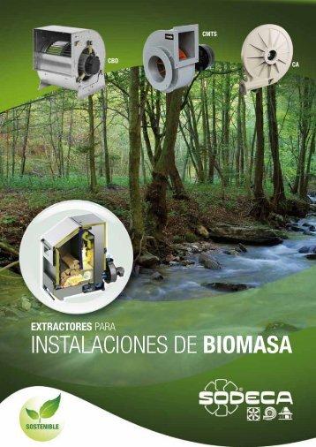 extractores para instalaciones de biomasa - Sodeca