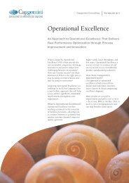 Operational Excellence - Capgemini