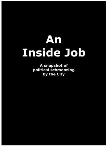 An Inside Job – a snapshot of political schmoozing by the City