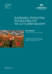 sustainable production technologies for the cut flower industry