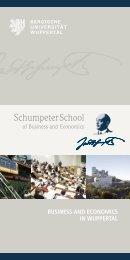 SchumpeterSchool - Prof. Dr. Braukmann - Bergische Universität ...