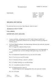 Kommunestyret MELDING OM VEDTAK - Løten kommune