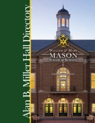 Miller Hall Floor Plan - Mason School of Business