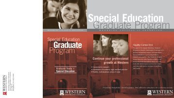 Continue your professional growth at Western - Woodring College of ...