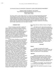 An Investigation of Attentional Demand in a Simulated Driving ...
