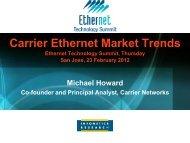 Carrier Ethernet Market Trends