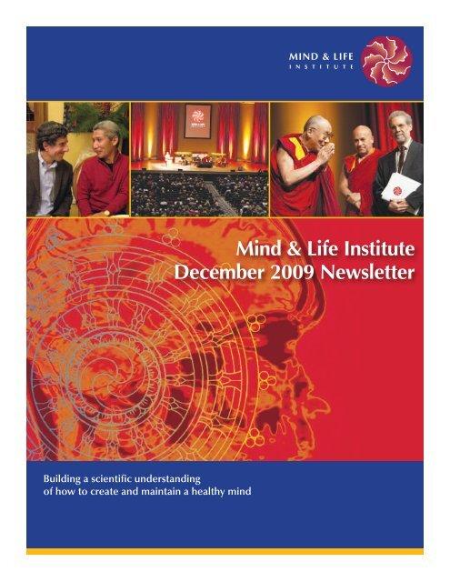 Mind & Life Institute December 2009 Newsletter