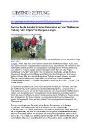 Reiche Beute bei der Kräuter-Exkursion - Wetterauer Hutungen