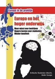 Europa en het hoger onderwijs - Ander Europa
