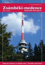 2009 OKTÓBER PDF-ben letölthető (6 MB) - Zsámbéki-medence