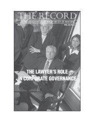 2007 Issue 1 - New York City Bar Association