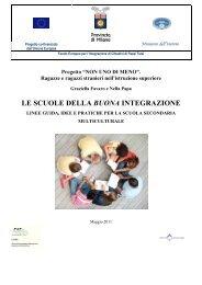 Le scuole della buona integrazione linee guida ... - Centro COME