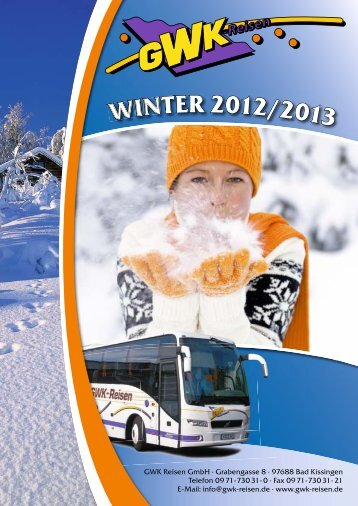 thumbnail winterkatalog 2011-2012 - GWK Reisen