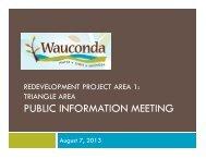 PUBLIC INFORMATION MEETING - Village of Wauconda
