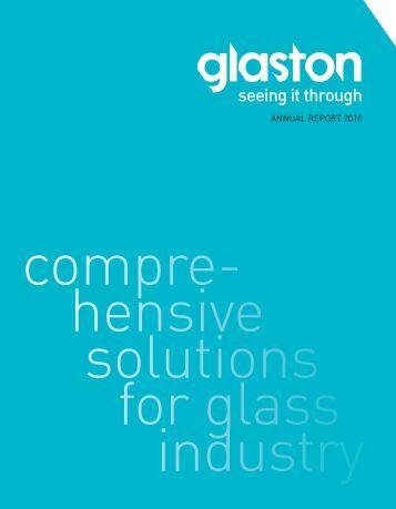 ANNUAL REPORT 2010 - Glaston