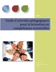 Guide d'activités pédagogiques pour la formation en compétences ...