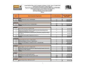listado_beneficiarios_intermediarios_financieros_if_2009 - Sagarpa