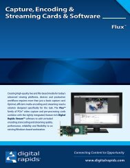 Capture, Encoding & Streaming Cards & Software - Video Media ...