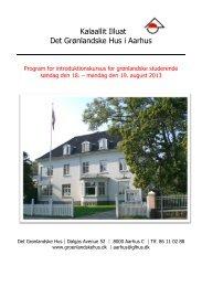 Kalaallit Illuat Det Grønlandske Hus i Aarhus - De grønlandske huse ...