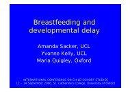 Breastfeeding and developmental delay