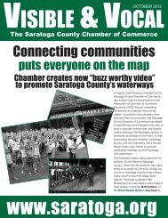 Connecting communities - Saratoga County Chamber of Commerce