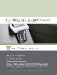 SEATBELT RECALL RESOURCES - Anapol Schwartz