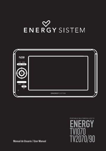 ENERGY TV1070 TV2070/90 - Energy Sistem