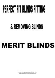Perfect Fit Detailed - Merit Blinds