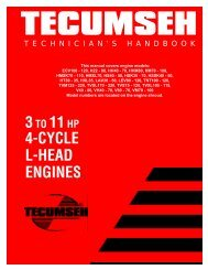 3to 11hp 4-cycle l-head engines - Small Engine Suppliers