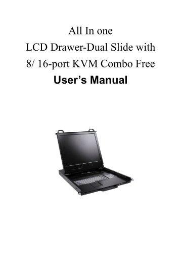 Dual Slide LCD KVM User's Manual - Server Racks Australia