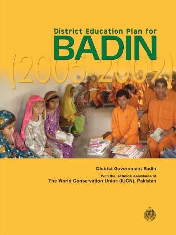 District Education Plan for District Education Plan for - IUCN - Pakistan