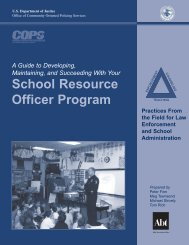 School Resource Officer Program - Cops - Department of Justice