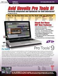 Avid Unveils Pro Tools 9! - medialink - Sweetwater.com